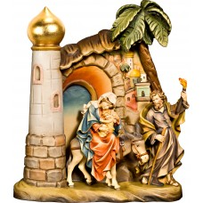 Flight to Egypt with scenery 12 cm Serie Colored maple
