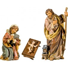 Holy Family with Jesus Child in simple cradle (without base) 50 cm Serie Antique