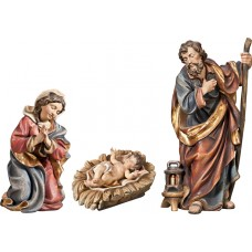 Holy Family with Jesus Child in carved cradle (without base) 40 cm Serie Real Gold antique