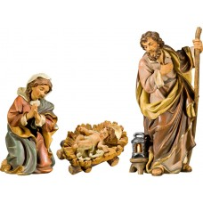 Holy Family with Jesus Child fixed in cradle (without base) 27 cm Serie Antique