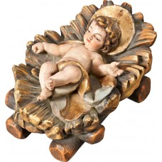 Jesus child fixed in cradle 50 cm Serie Real Gold antique