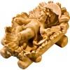 Jesus child fixed in cradle 27 cm Serie Stained+tones maple