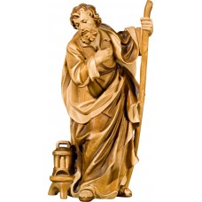 St. Joseph (without base) 75 cm Serie Stained+tones linden