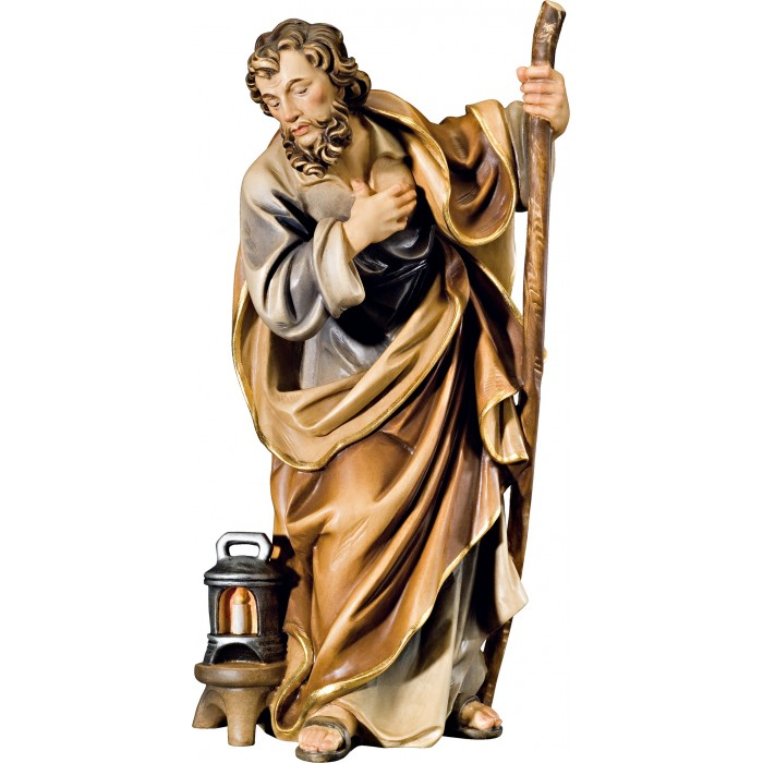 St. Joseph (without base) 12 cm Serie Colored maple