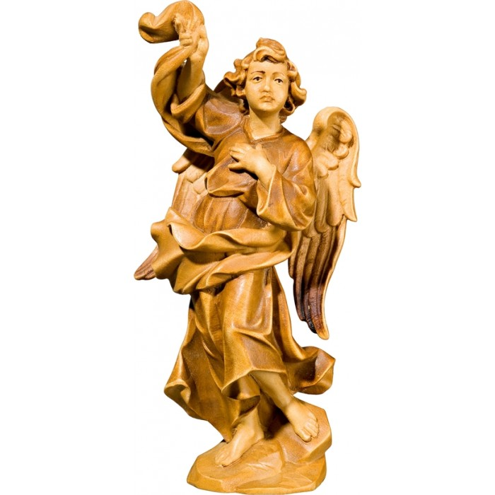 Annunciation Angel right 50 cm Serie Stained+tones linden
