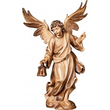 Angel with lantern 18 cm Serie Stained+tones maple
