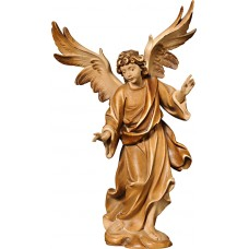 Annunciation Angel on cloude 18 cm Serie Stained+tones maple