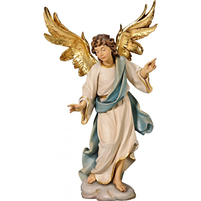 Annunciation Angel on cloude 75 cm Serie Colored linden
