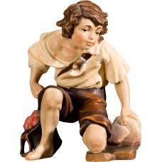 Herdsman kneeling 40 cm Serie Real Gold new