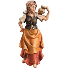 Herdswoman as waterporter 10 cm Serie Colored maple
