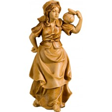 Herdswoman as waterporter 27 cm Serie Stained+tones maple