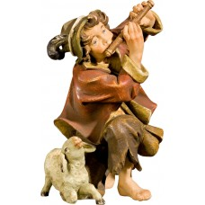 Herdsman knelling with flute and lamb 50 cm Serie Antique