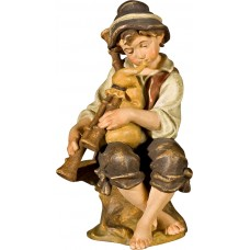 Herdsman sitting with bagpipe 50 cm Serie Antique