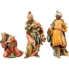 Holy 3 Kings (without base) 10 cm Serie Colored maple