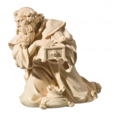 King kneeling (without base) 32 cm Serie Natural maple