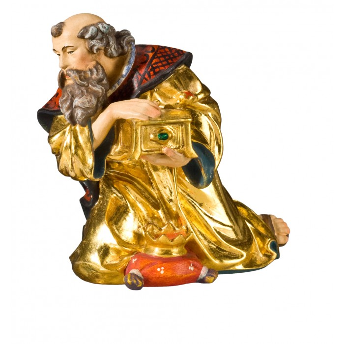 King kneeling (without base) 40 cm Serie Real Gold new