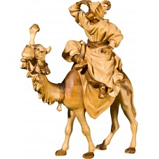 King on camel (without base) 50 cm Serie Stained+tones linden
