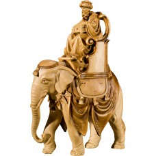 King on elephant 27 cm Serie Stained+tones maple