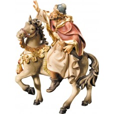 King on horse (without base) 10 cm Serie Colored maple