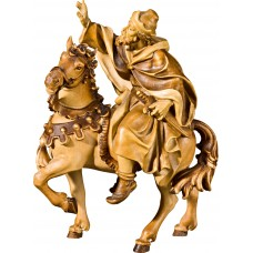 King on horse (without base) 50 cm Serie Stained+tones linden