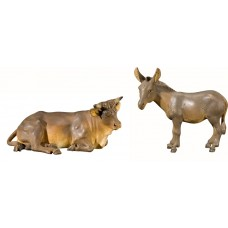 Ox and donkey 75 cm Serie Antique