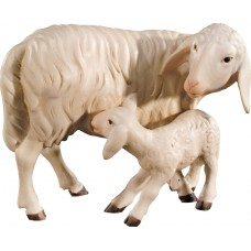 Sheep group standing (without base) 10 cm Serie Colored maple
