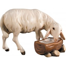 Sheep at the well 12 cm Serie Colored maple