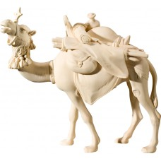Camel with baggage (without base) 40 cm Serie Natural maple