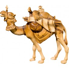 Camel with baggage (without base) 50 cm Serie Stained+tones linden