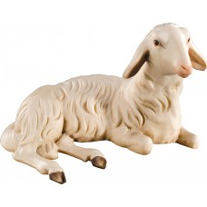Sheep lying (without base) 10 cm Serie Colored maple
