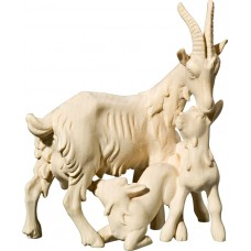 Goat three-group 18 cm Serie Natural maple