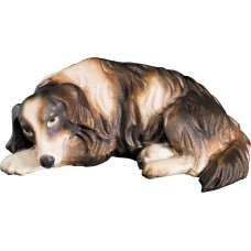 Dog lying 12 cm Serie [1,5x4,4cm] Colored maple