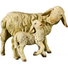 Sheep with lamb 50 cm Serie Antique