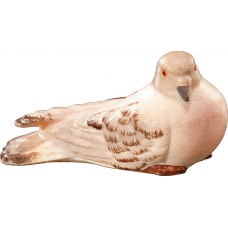 Pigeon perching 12 cm Serie [1,7x3,3cm] Colored maple