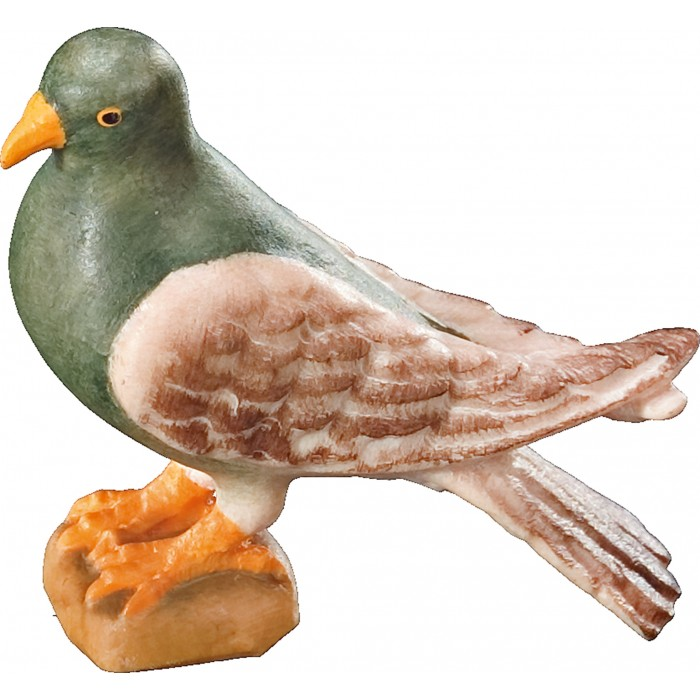 Pigeon standing 12 cm Serie [2,9x3,1cm] Colored maple