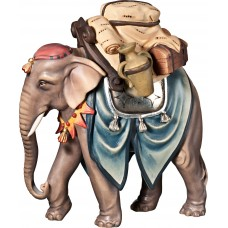 Elephant with baggage 12 cm Serie Colored maple
