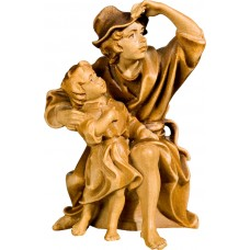 Herdsman sitting with kid 27 cm Serie Stained+tones maple