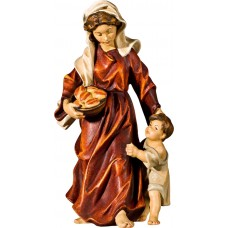 Herdswoman with kid 40 cm Serie Real Gold new