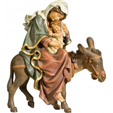 Mary on donkey for flight to Egypt 70 cm Serie Antique