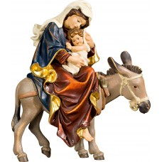 Mary on donkey for flight to Egypt 70 cm Serie Real Gold new