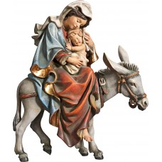 Mary on donkey for flight to Egypt 70 cm Serie Real Gold antique