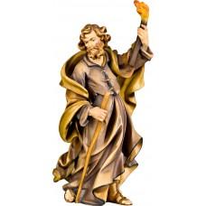St. Joseph for Flight to Egypt 12 cm Serie Colored maple