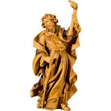 St. Joseph for Flight to Egypt 27 cm Serie Stained+tones maple