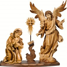 Annunciation of Mary 40 cm Serie Stained+tones maple