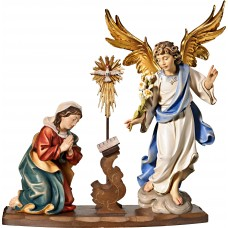 Annunciation of Mary 12 cm Serie Colored maple