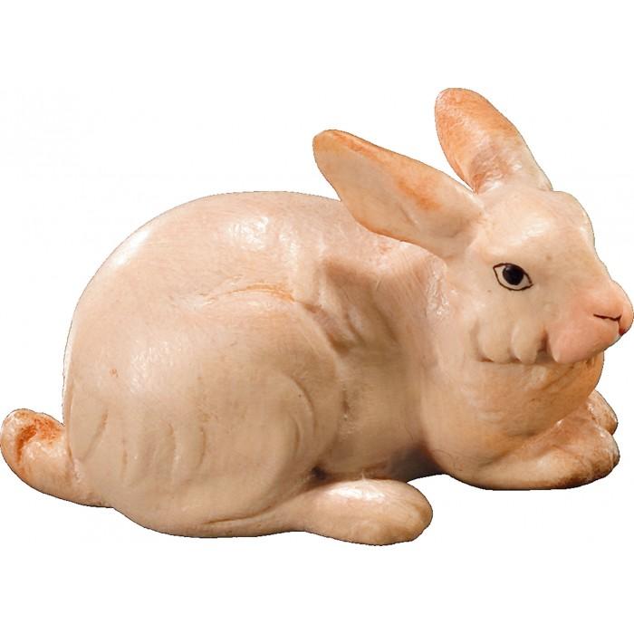 Rabbit lying 12 cm Serie [2,1x3,1cm] Colored maple