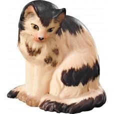 Cat sitting 12 cm Serie [3,4x2,7cm] Colored maple