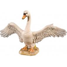 Swan open wings 12 cm Serie [6,4x11,3cm] Colored maple