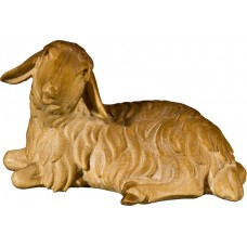Sheep lying 40 cm Serie Stained+tones maple