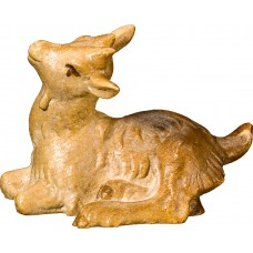 Goat kid lying 27 cm Serie Stained+tones maple